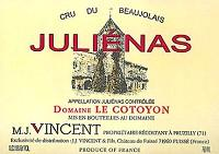 Jean-Jacques Vincent Julienas Domaine le Cotoyon 2007 750ml